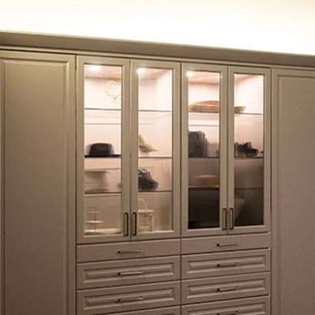 ABOVE CABINET LED STRIP LIGHTING FOR CUSTOM CLOSET