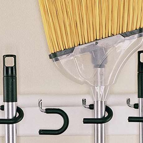 BROOM AND MOP HOLDER - FOUR STICK