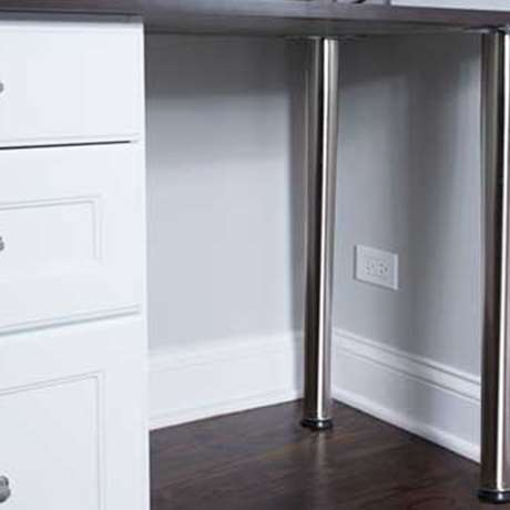 DESK LEGS — STEEL WITH POLUSHED CHROME FINISH