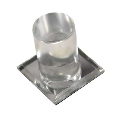 Round Mirrored Acrylic Knob for Glass Doors, Part#