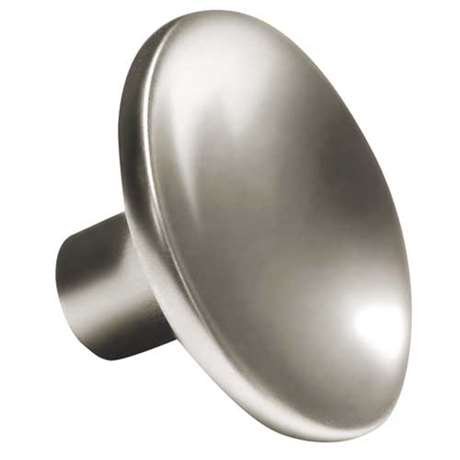CURVED ROUND Brushed Chrome, Part# 3271 — Knob: Si