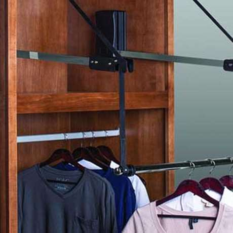 ELECTRONIC CLOSET ROD WITH EXTENDER