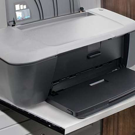 PULL-OUT PRINTER SHELF