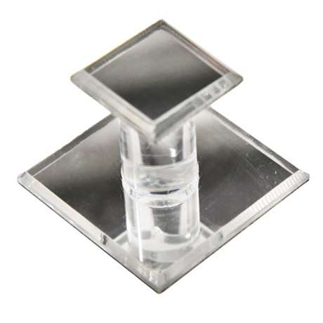Square Mirrored Acrylic Pull for Glass Doors, Part