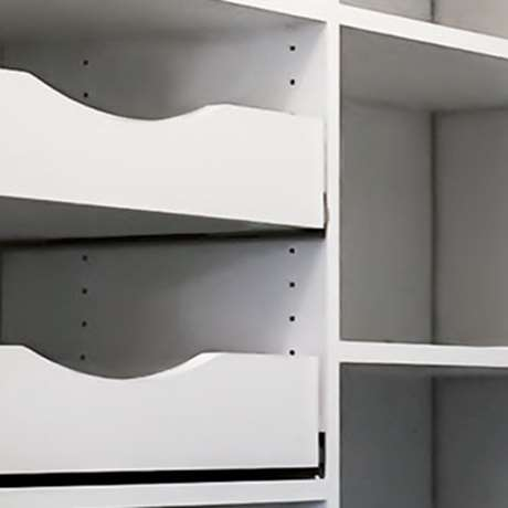 PULL OUT PANTRY SHELVES WITH SCALLOPED FRONT